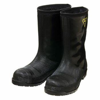 (数量限定在庫処分品 タグなし 訳あり 傷・汚れあり) 冷蔵庫長靴-40度 ブラック 27.0cm シバタ工業 NR041
