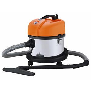 日動 業務用掃除機 乾湿両用 15L ステンレス バキュームクリーナー NVC-15L-S