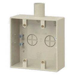 未来工業 露出スイッチボックス(2ヶ用・1方出)適合管VE14 ミルキーホワイト 1個価格 SW1-14WM