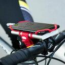 BikeTiePro Pack スマホホルダー シリコン製 ステム用 Uber Eats ウーバーイーツ 自転車 バイク ベビーカー ペットバギー 4-6.5インチ対応 モバイルバッテリー取付可能 軽量 脱着簡単 顔認証 指紋識別 Bonecollection BK18121