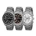 【並行輸入品】[DOLCE SEGRETO] ドルチェセグレート 腕時計 メンズ ブラック ピンクゴールド シルバー MSM101BK-BK MSM101BKPG MSM101SV