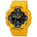 【逆輸入品】【箱訳あり】 カシオ CASIO 腕時計 G-SHOCK ジーショック)GA-100A-9A メンズ イエロー 海外モデル