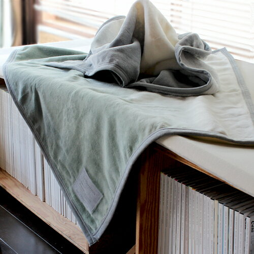 【LOOM&SPOOL FOL綿毛布 ブランケット 90×70cm】毛布 ブランケット 小さめ コットン 綿 国産 泉大津■ ラッピング無料