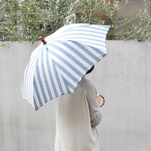 【SURMER日傘ストライプ長傘】シュールメールファッション傘かさカサ紫外線防止加工縞シュルメール■送料無料■