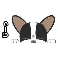 見てまステッカーフレンチブルドッグフレブルBUHIフレンチ犬ステッカー車窓玄関見てます犬種別名入れビッグサイズグッズドッグシールカーステッカー【フレンチブルドッグ】