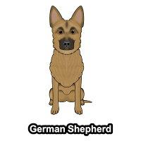 ジャーマンシェパードシェパードドッグ犬ステッカー車窓玄関犬種別グッズドッグステッカーシールカーステッカー【ジャーマンシェパード】
