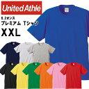 ユナイテッドアスレ メンズカジュアル 6.2オンス プレミアム T シャツ 無地T シャツ 9色 大きいサイズ XXL 綿100% 594201CX UnitedAthle