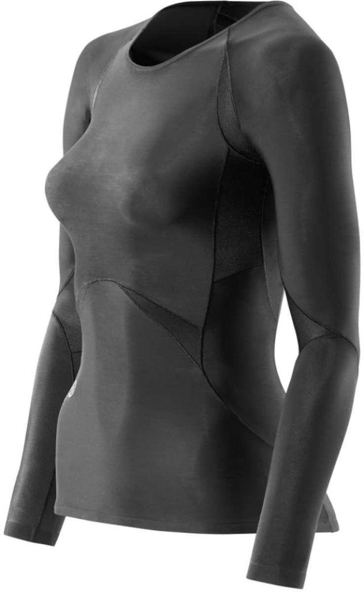 スキンズ SKINS ボディケアゲームシャツ パンツRY400 ウィメンズロングスリーブトップK48001005Dブラック