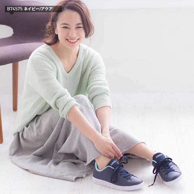 ☆アディダスレディーススニーカーVALCLEAN2コートスタイルadidasシューズバルクリーンアディダスネオ靴