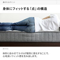 ポケットコイルマットレスキングポケットコイルマットレスベッドマットレスキングマットレス快眠体圧分散極厚20cmキルティング通気性