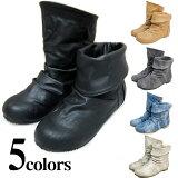 2wayプレミアムレインブーツレディースショートスノーブーツ防水防寒雪靴