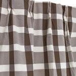 カーテン2枚組チェック柄洗える幅100×丈135〜200cmドレープカーテンブラウンシック100×135100×178100×200洗濯可能クック