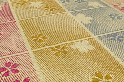 い草ラグ江戸間4.5畳上敷き261×261夏夏ラグござ掛川織りラグマットカーペット桜送料無料