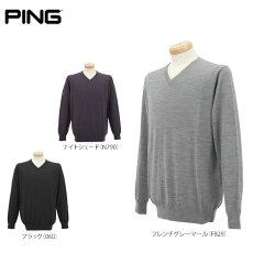 ピンメンズ長袖VネックセーターP03129