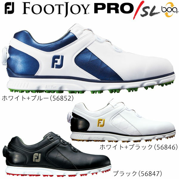 フットジョイ メンズ PRO / SL Boa スパイクレス ゴルフシューズ [2017年モデル]  【あす楽対応】 [有賀園ゴルフ]