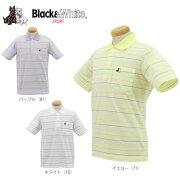 ポイント ブラック ホワイト ボーダー ポロシャツ