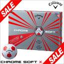 キャロウェイ CHROME SOFT X TRUVIS ホワイト/レッド ゴルフボール 1ダース(12球入り) [2017年数量限定モデル] 【あす楽対応】 [...