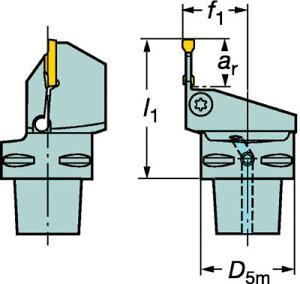 【サンドビック】サンドビックコロマントキャプトコロカット1・2用カッティングユニットC3RF123H1322055B[サンドビックホルダー切削工具旋削・フライス加工工具ホルダー]【TN】【TC】