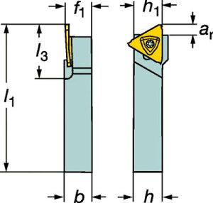 【サンドビック】サンドビックコロカット3突切り・溝入れシャンクバイトRF123T061010BM[サンドビックホルダー切削工具旋削・フライス加工工具ホルダー]【TN】【TC】
