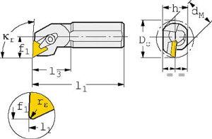 【サンドビック】サンドビックT−MaxSポジチップ用ボーリングバイトS12MCTFPL11[サンドビックホルダー切削工具旋削・フライス加工工具ホルダー]【TN】【TC】