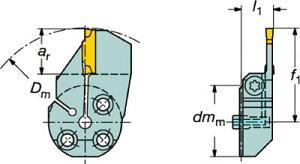 【サンドビック】サンドビックコロターンSLコロカット1・2用突切り・溝入れブレード57040L123J18B[サンドビックホルダー切削工具旋削・フライス加工工具ホルダー]【TN】【TC】
