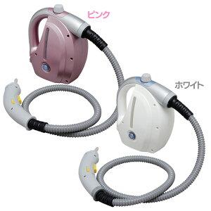 【送料無料】アイリスオーヤマコンパクトスチームクリーナーSTP-101Nホワイト・ピンク