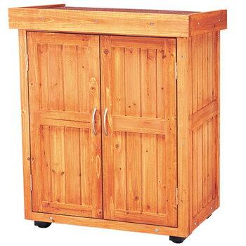 物置 木製物置・ロッカー WSR-900幅74×奥行47×高さ90cm送料無料 収納庫 ゴミ箱 ごみ箱 物置 物置...