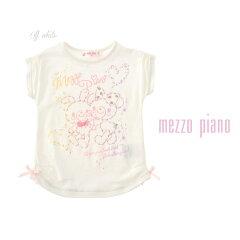 メゾピアノ/mezzo piano キラキラグラデーションプリントTシャツ フリル リボン トップス キッズ