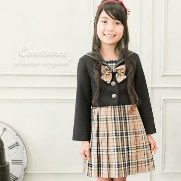 eee9f18789600 入学式 スーツ 女の子 子供服 コンスタンス 115 120 130 cm センチ ジャケット + ワンピース