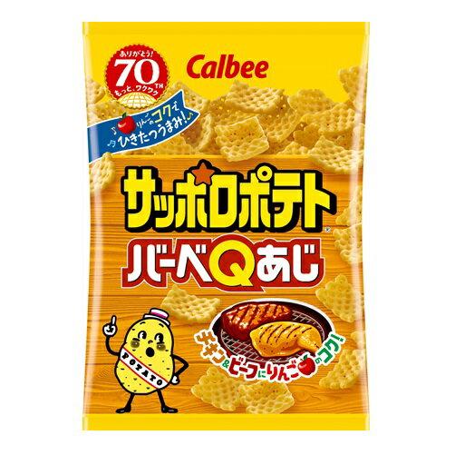 カルビー サッポロポテトバーベQあじ 80g×24個 【送料無料】