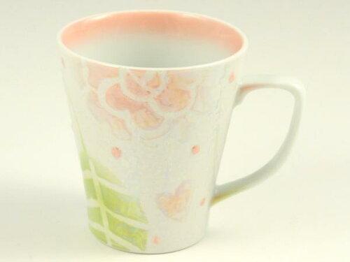 【母の日ギフト】有田焼 すながま ラスター薔薇(ピンク) マグカップ