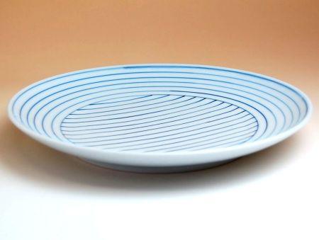 和食器 おしゃれ かわいい 有田焼 波佐見焼 大きめのお皿 線もよう 7寸皿