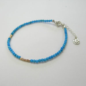 K10 Arabesque beaded turquoise Bracelet (Lady's)