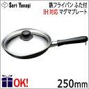 【IH対応】柳宗理 鉄フライパン マグマプレート 25cm ふた付き Yanagi Sori