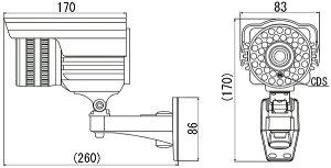 【MTW-SD02HIR】MTW-SD02IRの後継機!防犯カメラSDカード録画屋外用防水型IRカメラマザーツール監視カメラ960H録画対応【10P11Mar17】