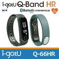 MobileAction腕時計型心拍計搭載活動量計Bluetoothスマートリストバンドi-gotUQ-BandHR【Q-66HR】