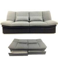【送料無料】【人気のベーシック系】布張り&PVC使用引出し付&ソファーベッド