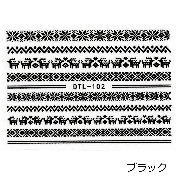 ネイルシール, 3Dネイルシール  DTL-102 2