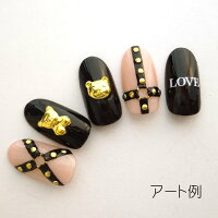【バラ売り】くまちゃんネイルパーツ ゴールド/シルバー  1個  全4種【メール便可】