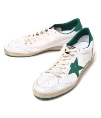 GOLDENGOOSE[ゴールデングース]/SNEAKERBALLSTAR-WHITEGREEN-(ゴールデングーススニーカー靴ヴィンテージ)G26U592-A4【RIP】
