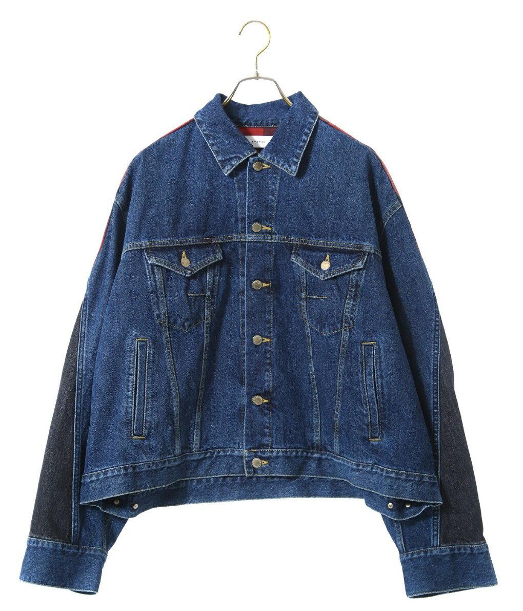 メンズファッション, コート・ジャケット FACETASM CHECK DENIM JACKET PIPPA-JK-M05 WAX
