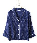 SLEEPY JONES [スリーピージョーンズ] / silk marina pajama shirt (スリーピージョーンズ パジャマ パンツ ルームウェア シルク) WT001-F1238-410【DEA】