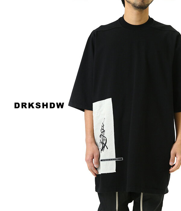 トップス, Tシャツ・カットソー DRKSHDW JUMBO TEE TEE Rick Owens 19SS 19 DU19S4274-RIGEP1 WAX