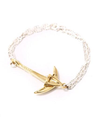 MIANSAI [ミアンサイ] / Brass Anchor on Silver Chain (ブレスレット ミアンサイ マイアンサイ le...