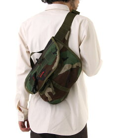 Flap Body Bag: Woodland Camo