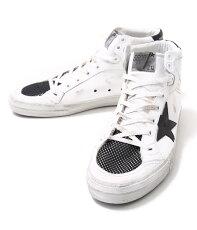 GOLDENGOOSE[ゴールデングース]/SNEAKERS2.12-WHITEBLACKNET-(ゴールデングーススニーカー靴ヴィンテージ)G26U599-E5【RIP】