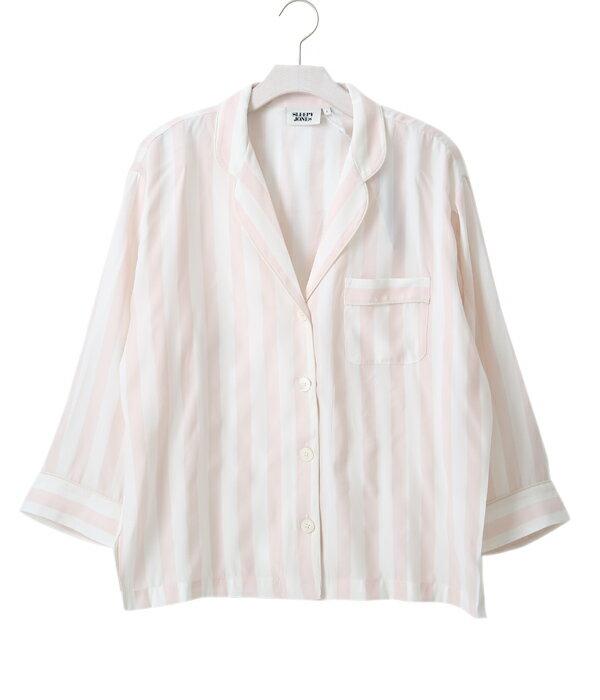 SLEEPY JONES [スリーピージョーンズ] / 【レディース】Silk Marina Pajama Shirt (スリーピージョーンズ パジャマ パンツ ルームウェア シャツ ストライプ シルク) SS17-WT001-F1263-680【DEA】:ARKnets