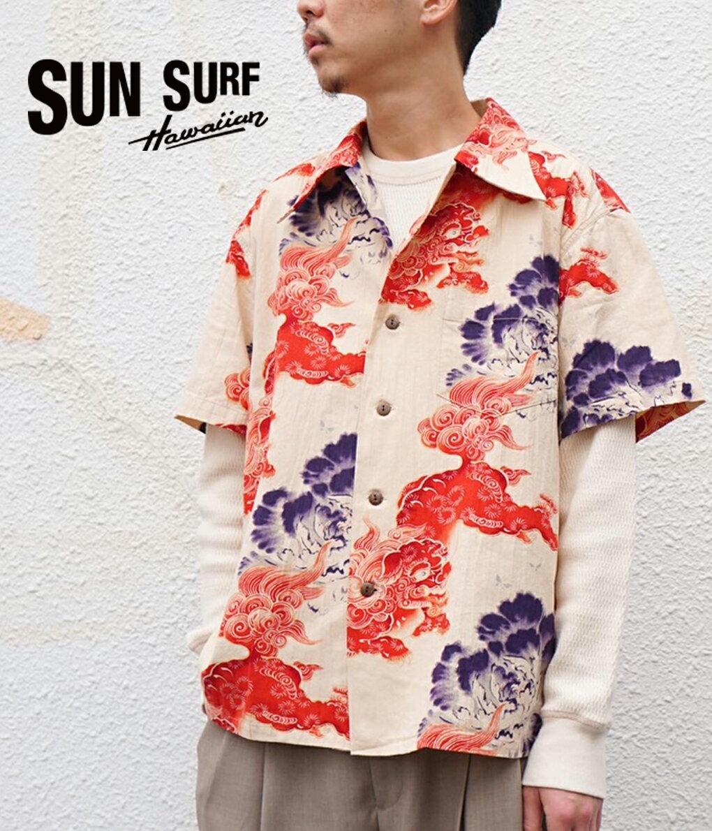 トップス, カジュアルシャツ SUN SURF : SUN SURF SPECIAL EDITION KARAJISHI BOTAN : : SS38550STD