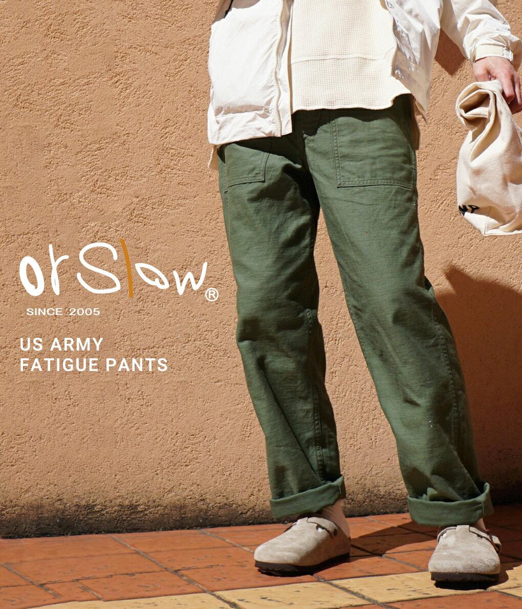 メンズファッション, ズボン・パンツ orSlow : US ARMY FATIGUE -GREEN- : : 01-5002-16STDREA
