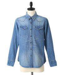 【正規取扱】【レビューを書いて1万円当たる】KURO [クロ] Western Shirts Vintage Wash02 (ビ...